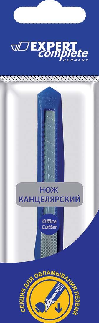 Expert Complete Нож канцелярский 9 мм цвет синий office force stationery нож канцелярский с винтовой системой блокировки цвет желтый лезвие 9 мм 99916