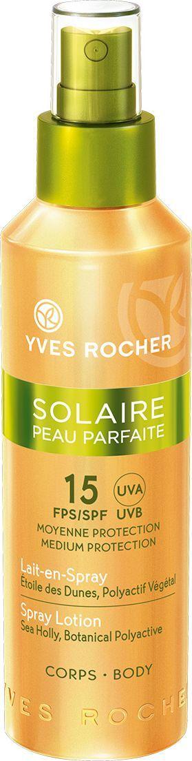Yves Rocher Солнцезащитное молочко-спрей для тела SPF 15, 150 мл