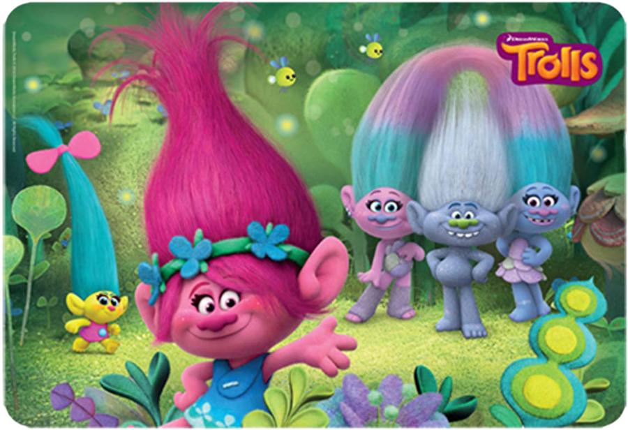 Trolls Подкладка настольная для письма Trolls 4254506 6pcs set 8cm trolls movie figure collectible dolls poppy branch biggie pvc trolls action figures toy for kids christmas gifts