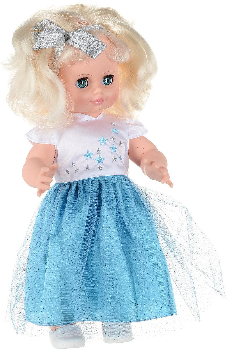 Весна Кукла озвученная Инна цвет одежды голубой белый блондинка