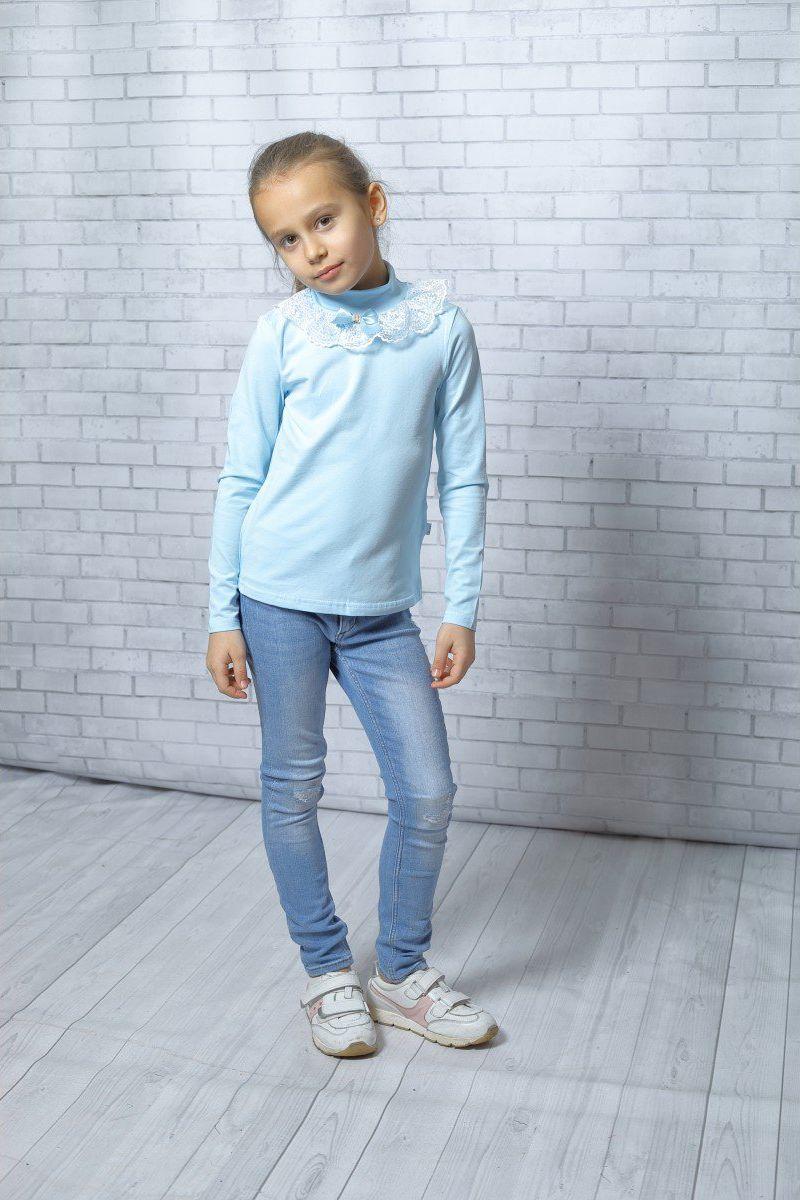 Блузка для девочки Nota Bene, цвет:  голубой.  181230506_10.  Размер 146 Nota Bene