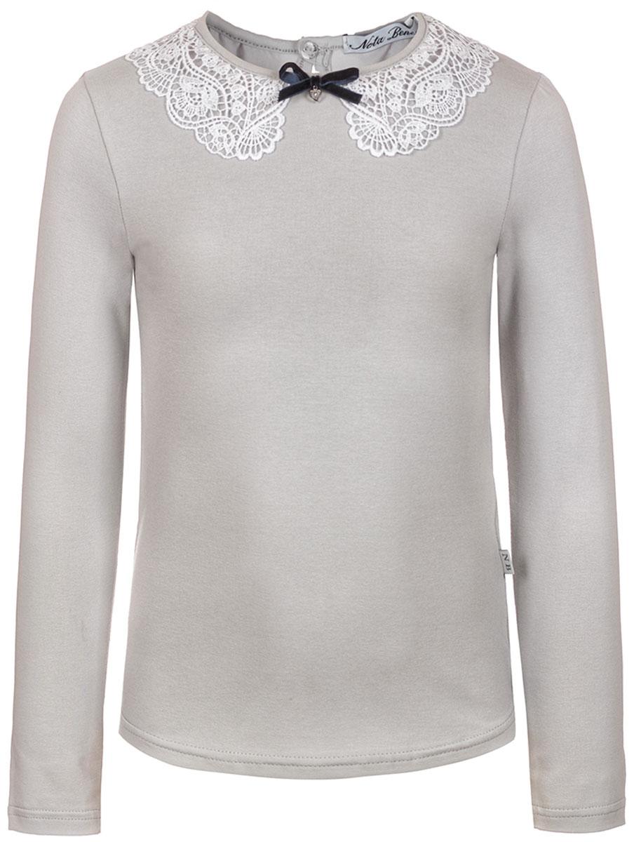 Блузка для девочки Nota Bene, цвет: серый. 181230509_20. Размер 158
