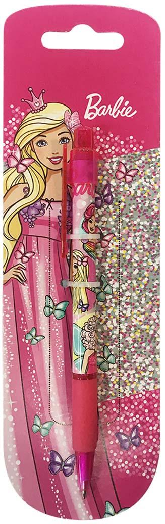 Mattel Ручка шариковая автоматическая Barbie 07 мм цвет чернил синий ручка шариковая автоматическая flexoffice trendee 0 5мм красная