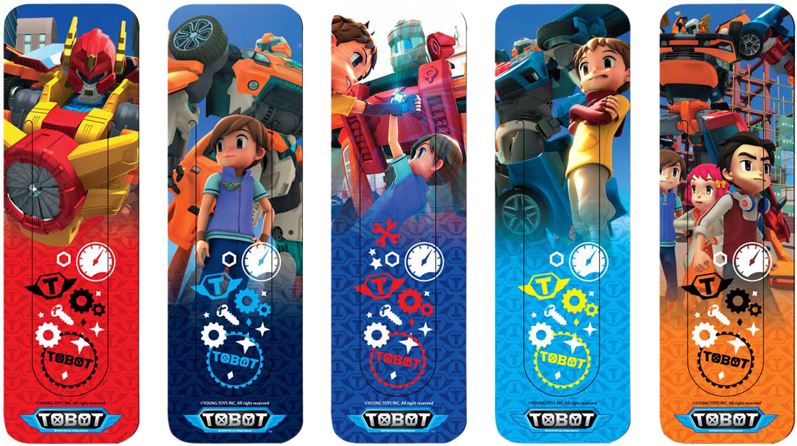 Tobot Набор закладок фигурки Tobot 5 шт 4257216 подводный мир набор закладок серия 3 5 шт