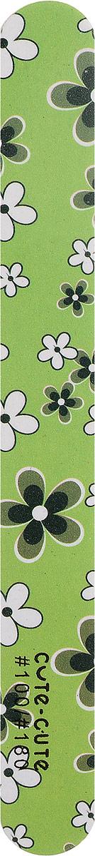 Cute-Cute Пилка маникюрная прямая, цвет: зеленый, 100/180 bomhcs cute women autumn winter 100