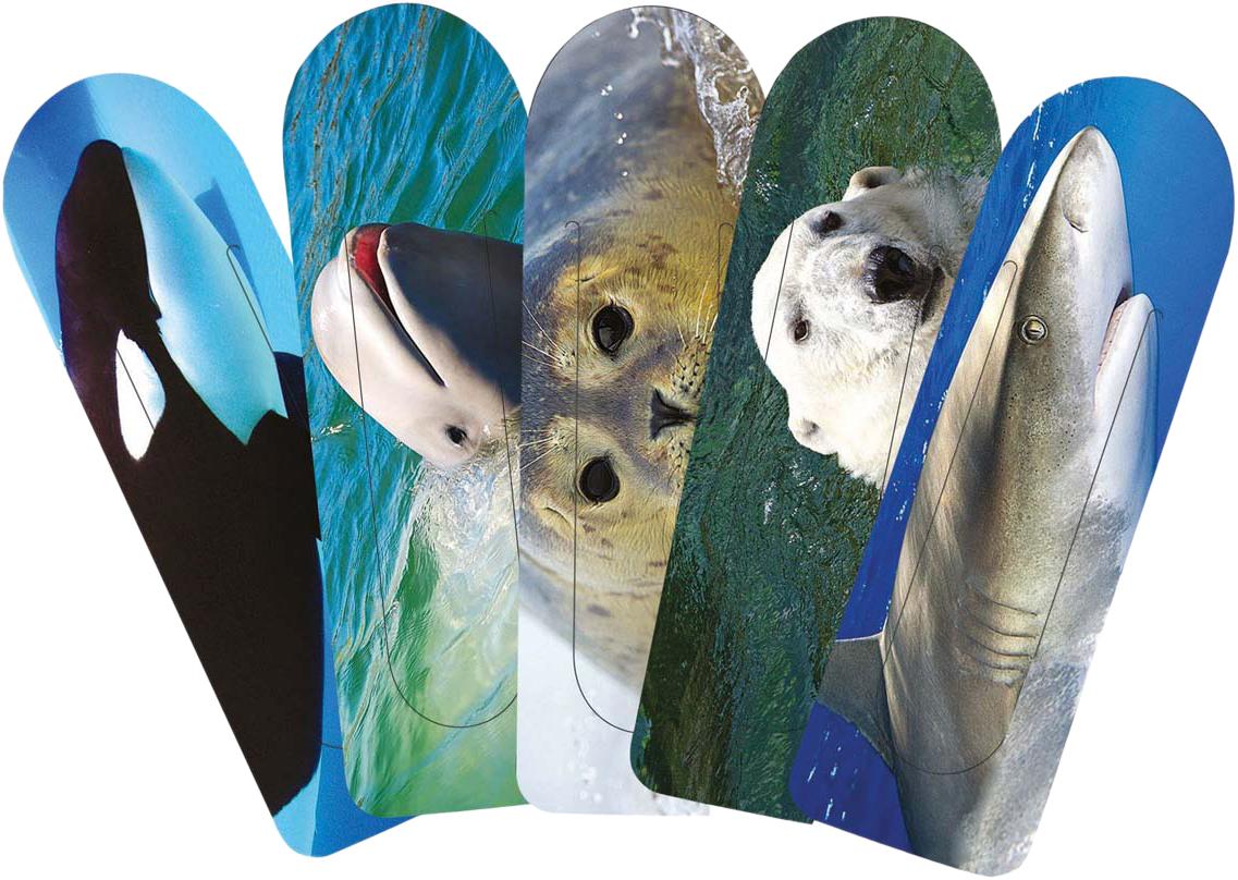 Подводный Мир Набор закладок серия 1 5 шт