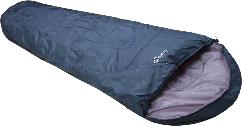 Мешок спальный Red Fox F&T right. Long, цвет: темно-синий, правосторонняя молния, 240 х 90 см