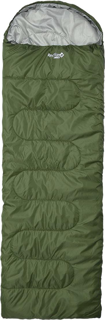 Мешок спальный Red Fox Forrest left. Regular, цвет: темно-зеленый, левосторонняя молния, 230 х 80 см