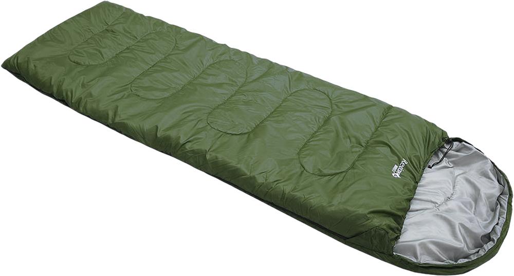 Мешок спальный Red Fox Forrest right. Regular, цвет: темно-зеленый, правосторонняя молния, 230 х 80 см