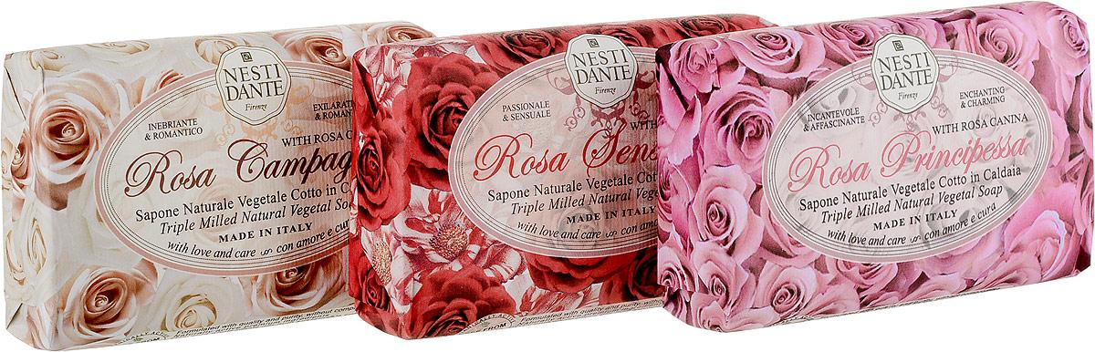 Nesti Dante Набор мыла Rosa, 3 шт х 150 г аромат розы