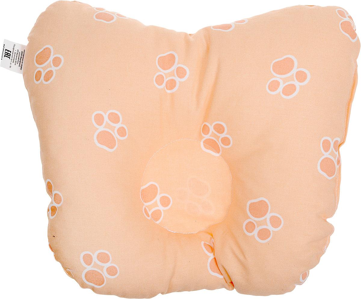 Сонный гномик Подушка анатомическая для младенцев Лапы цвет оранжевый 27 х 27 см