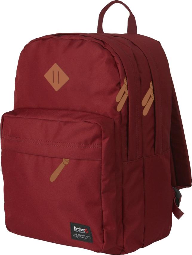 Рюкзак детский городской Red Fox Bookbag L2, цвет: бордовый, 30 л red fox рюкзак river 2l 2200 кирпич