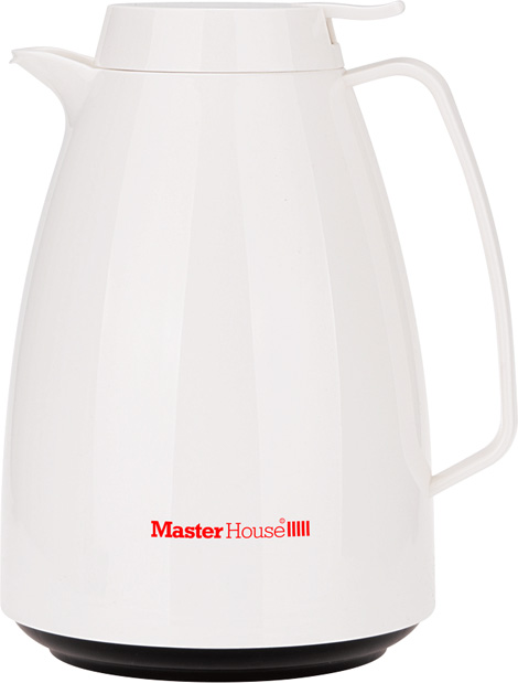 Термокувшин Master House Турин, цвет: белый, 1 л термокувшин leifheit bolero 1 л