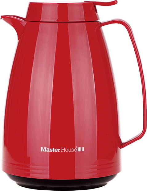 Термокувшин Master House Турин, цвет: красный, 1,5 л термокувшин leifheit columbus 1 л