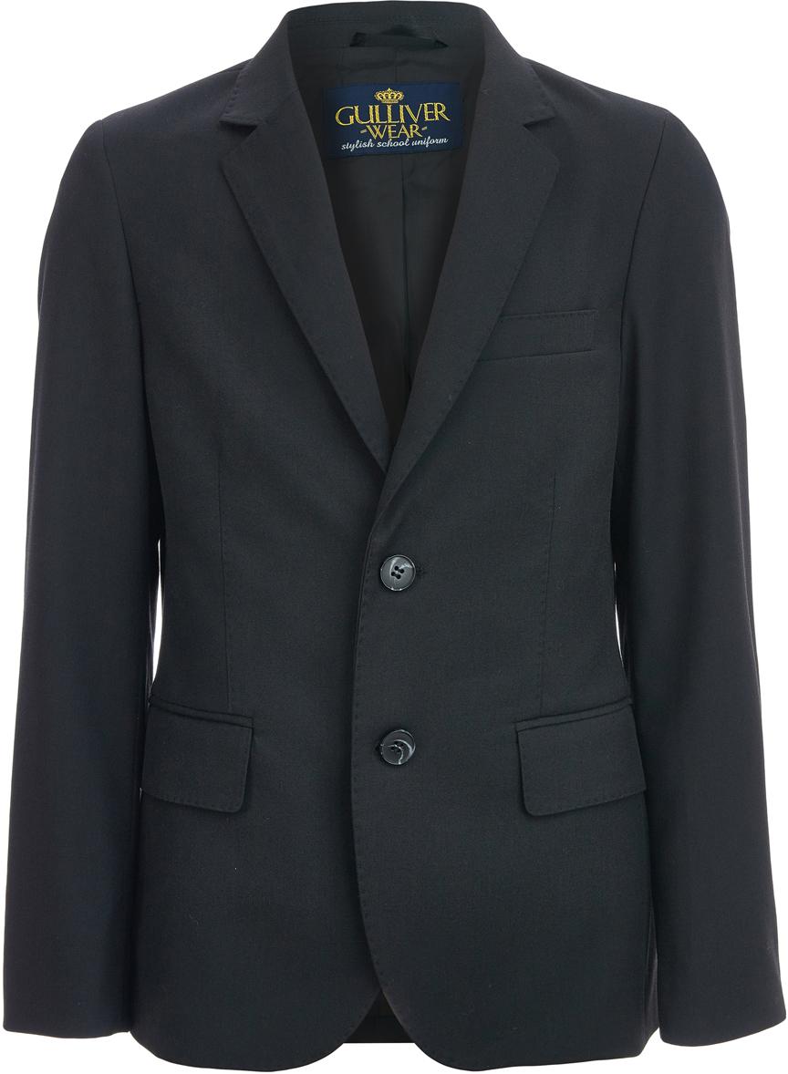 Пиджак для мальчика Gulliver, цвет: черный. 218GSBC4801. Размер 128