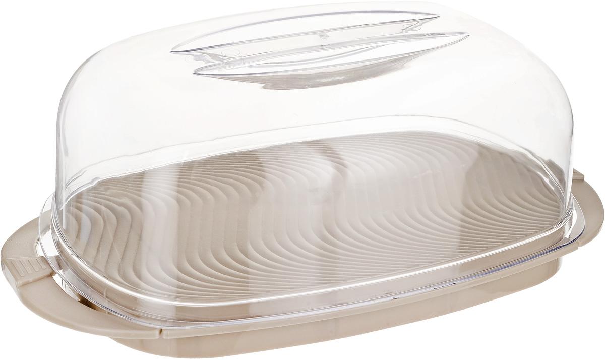 Контейнер Giaretti, цвет: кофейный, прозрачный, 29,2 х 17 х 11 см аптечка blocker скорая помощь с отсеками цвет прозрачный 29 х 17 х 13 см
