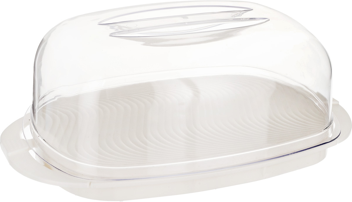 Контейнер Giaretti, цвет: кремовый, прозрачный, 29,2 х 17 х 11 см контейнер для продуктов phibo smart system 2 секции с клапаном 25 см х 16 см х 16 5 см