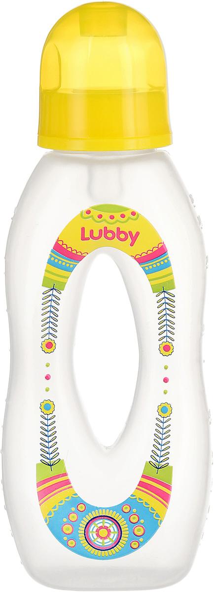 Lubby Бутылочка с силиконовой соской Бублик цвет желтый от 0 месяцев 250 мл lubby
