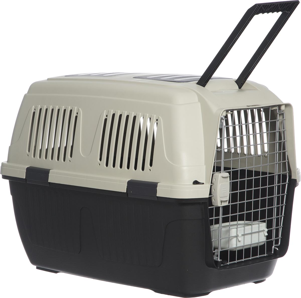 Переноска для собак Triol Standard Large, цвет: черный, 820 x 570 x 600 мм для собак triol милитари