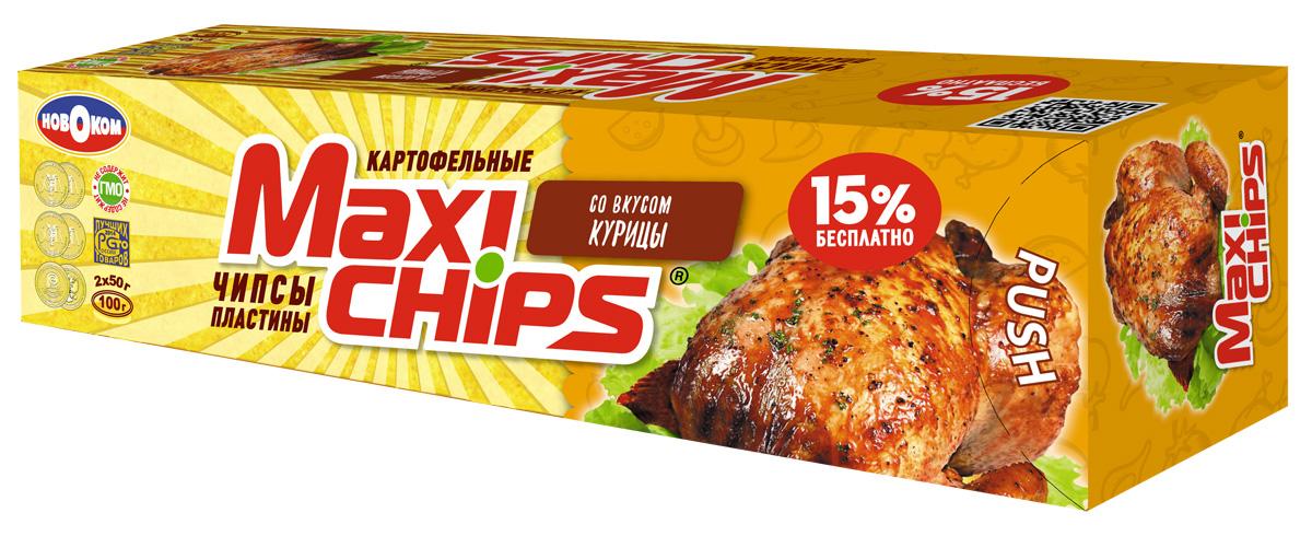 Maxi-chips Чипсы картофельные со вкусом курицы, 100 г
