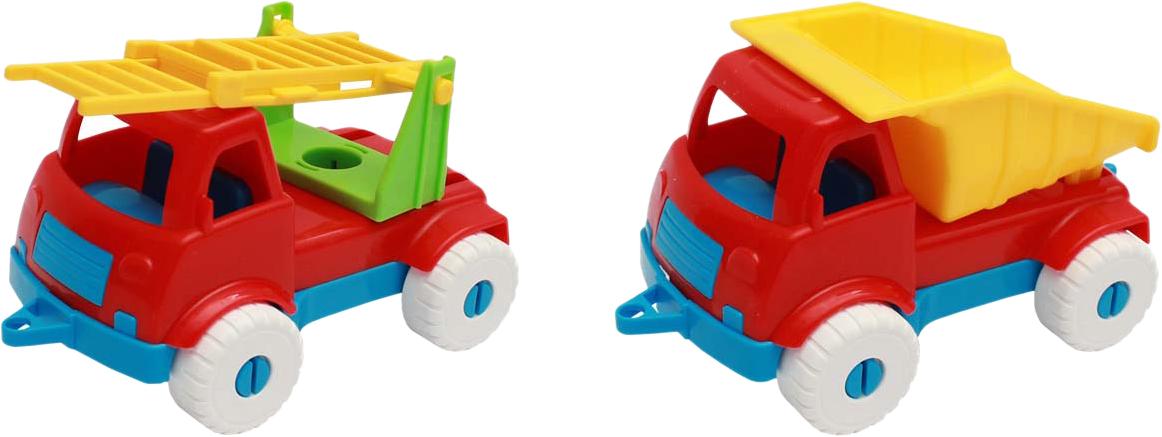 Рыжий Кот Набор машинок № 1 2 в 1 Самосвал и пожарная игрушки для детей