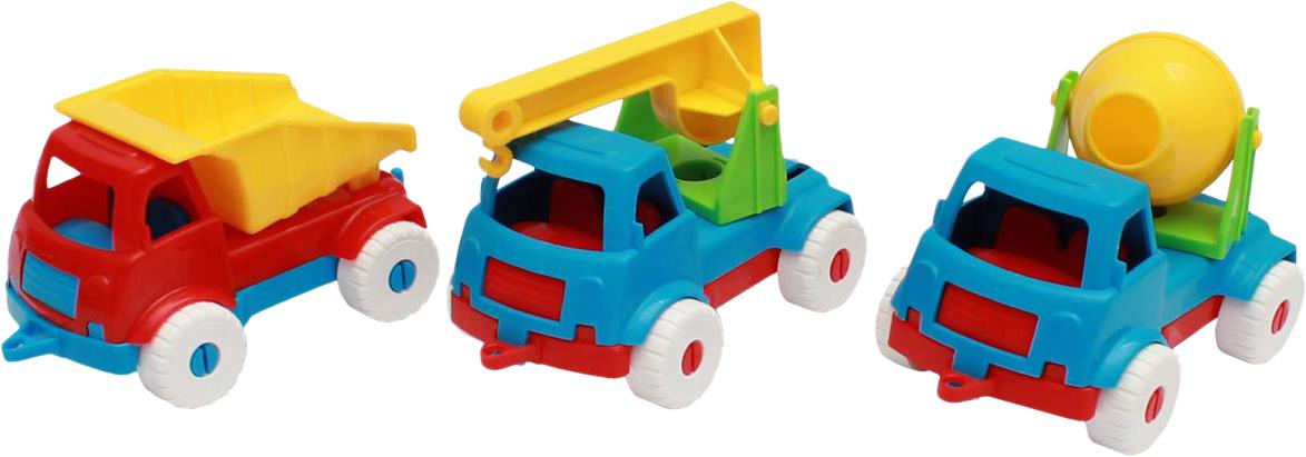 Рыжий Кот Набор машинок № 4 3 в 1 Самосвал + бетономешалка + кран цвет в ассортименте военные игрушки для детей gaming heads 1 4