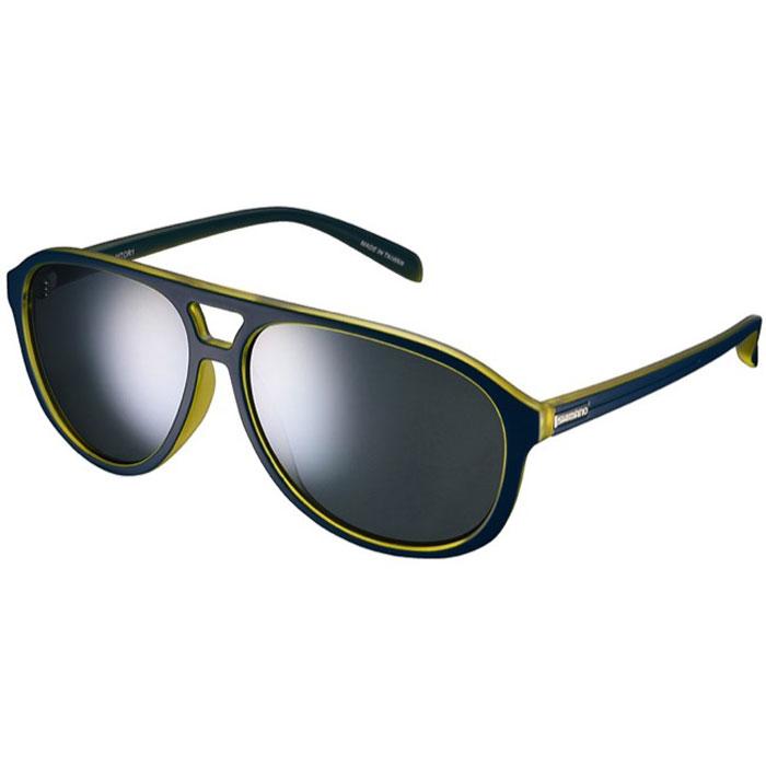 Велосипедные очки Shimano Meteor, цвет оправы: серый, желтый