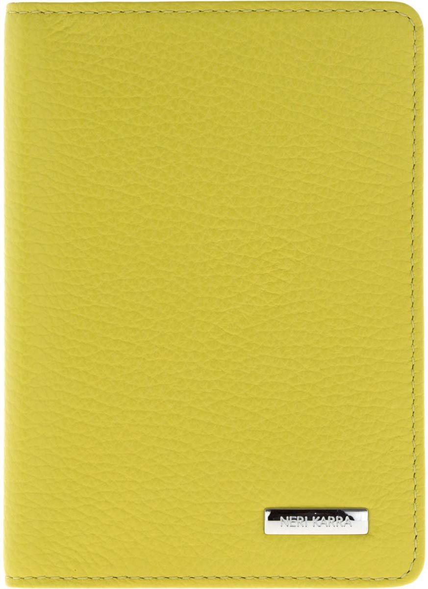 Обложка для паспорта Neri Karra, цвет: салатовый, зеленый. 0037 803.38/34 neri karra 0074r 05 01 05