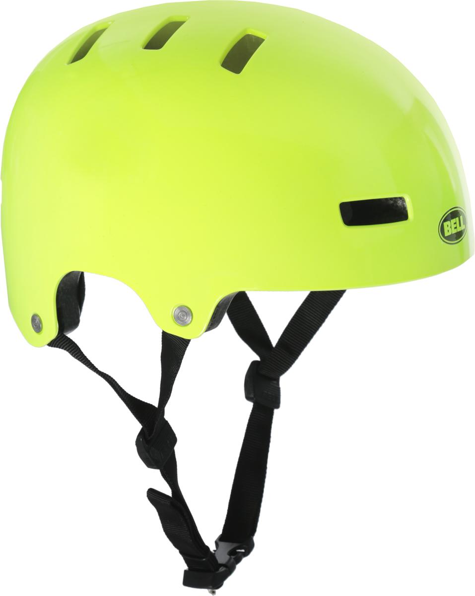 Шлем защитный детский Bell 18 Block BMX, цвет: салатовый. Размер XS (49/53)