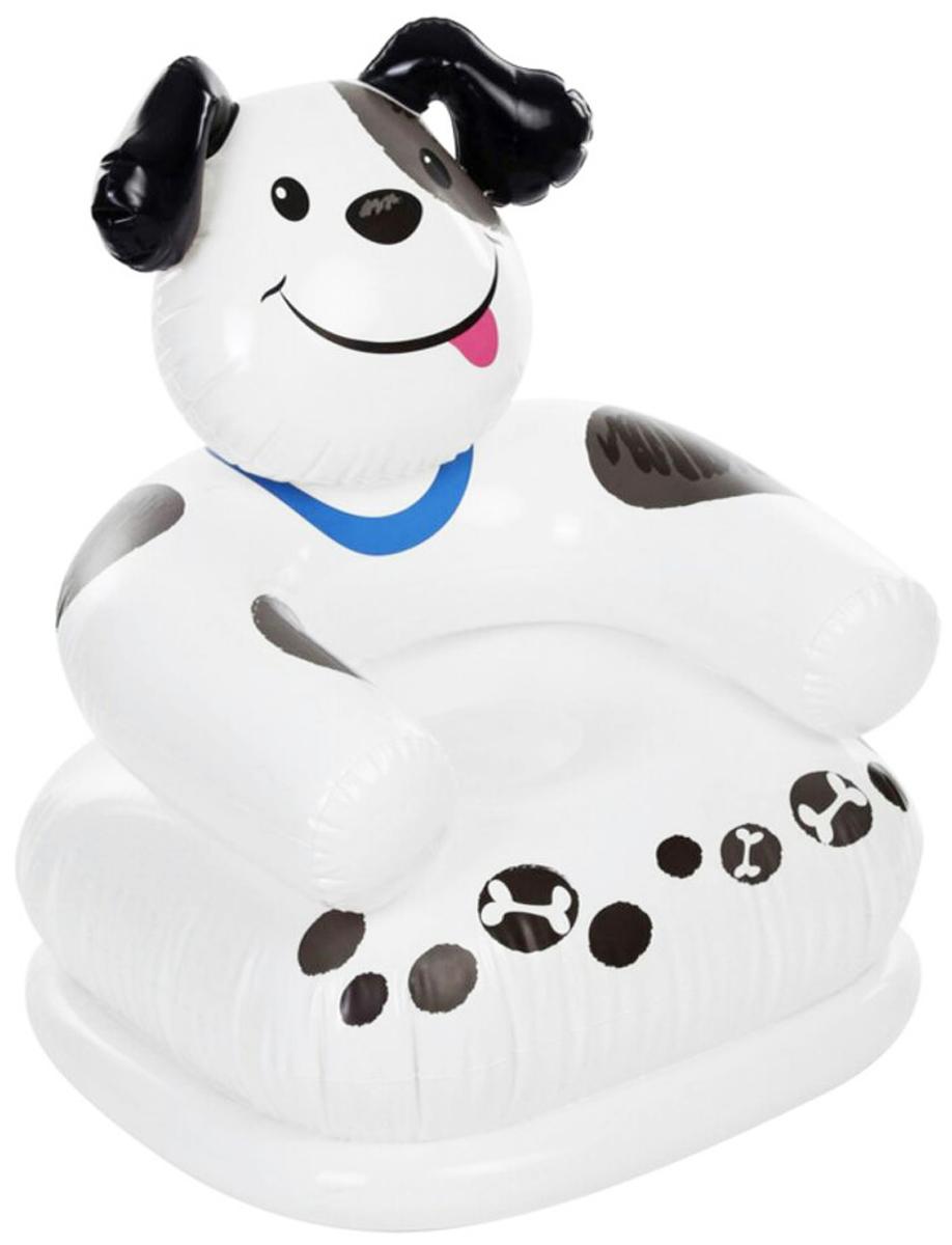 Кресло надувное Intex. Собака, цвет, белый, 65 х 64 х 74 см intex динозавр 58472 т 244см х 46см