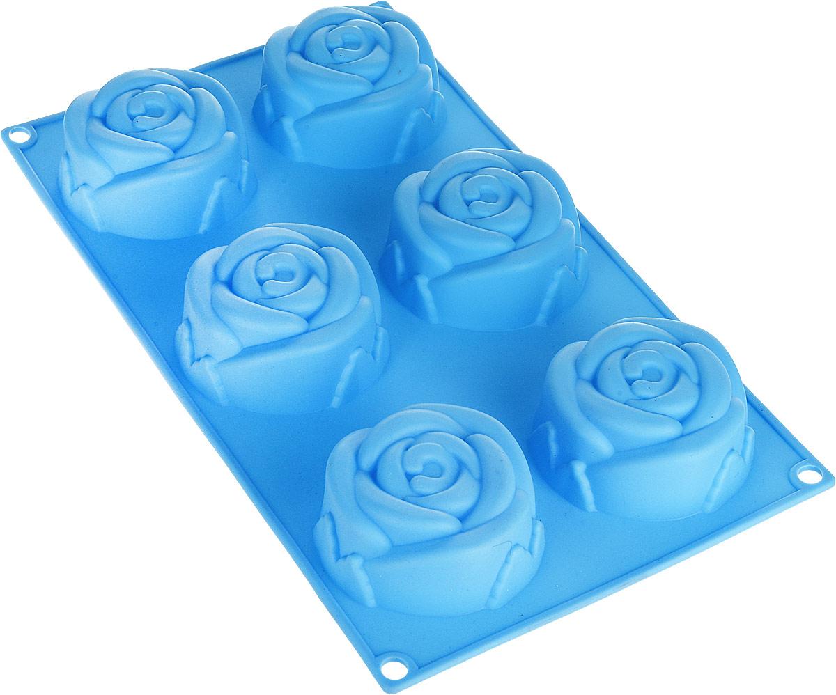 """Форма для выпечки силиконовая """"Mayer & Boch"""", цвет: голубой, 700 мл. 28062-1"""