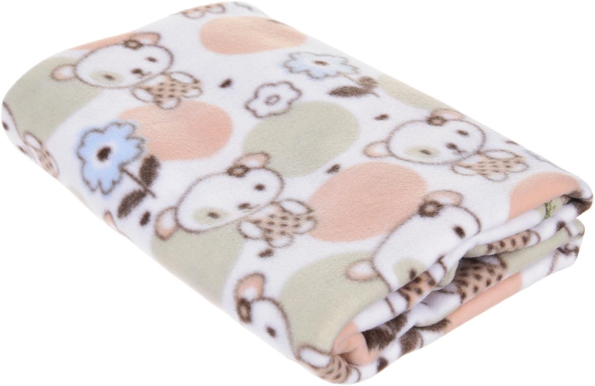Baby Nice Плед детский Мишки цвет бежевый 100 х 118 см