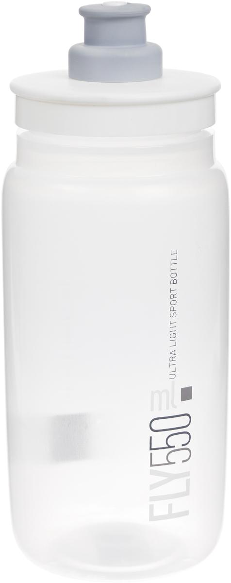 Фляга велосипедная Elite Fly, цвет: белый, 550 мл фляга велосипедная stern water bottle с держателем цвет фиолетовый 350 мл