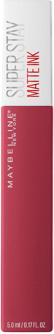 Maybelline New York Суперстойкая жидкая матовая помада для губ Super Stay Matte Ink, оттенок 80, Властитель, 5 мл жидкая помада absolute new york velvet lippie 03 цвет avl03 mojito variant hex name 8ecfa6