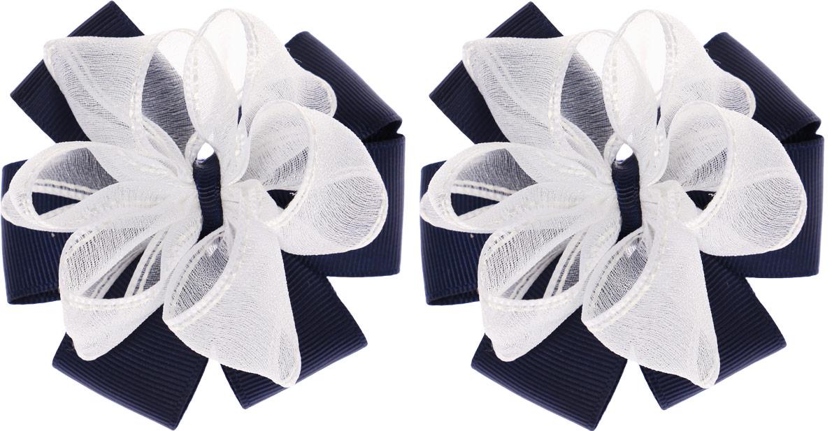 Бант для волос Baby's Joy, цвет: белый, синий, 2 шт. MN 143/2