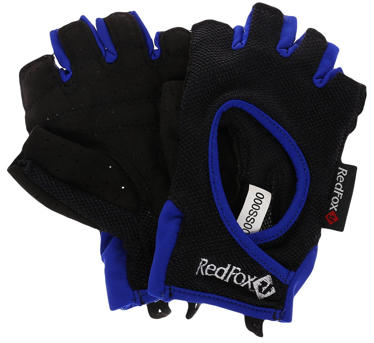 Велоперчатки Red Fox Winner, цвет: черный, синий. Размер L