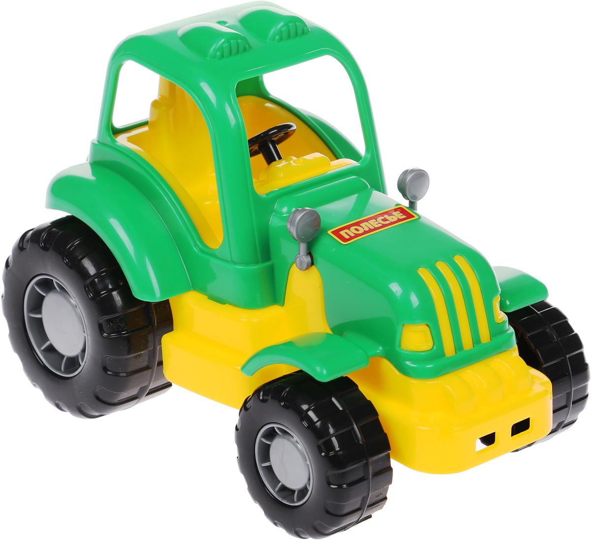 Полесье Трактор Крепыш цвет зеленый цена