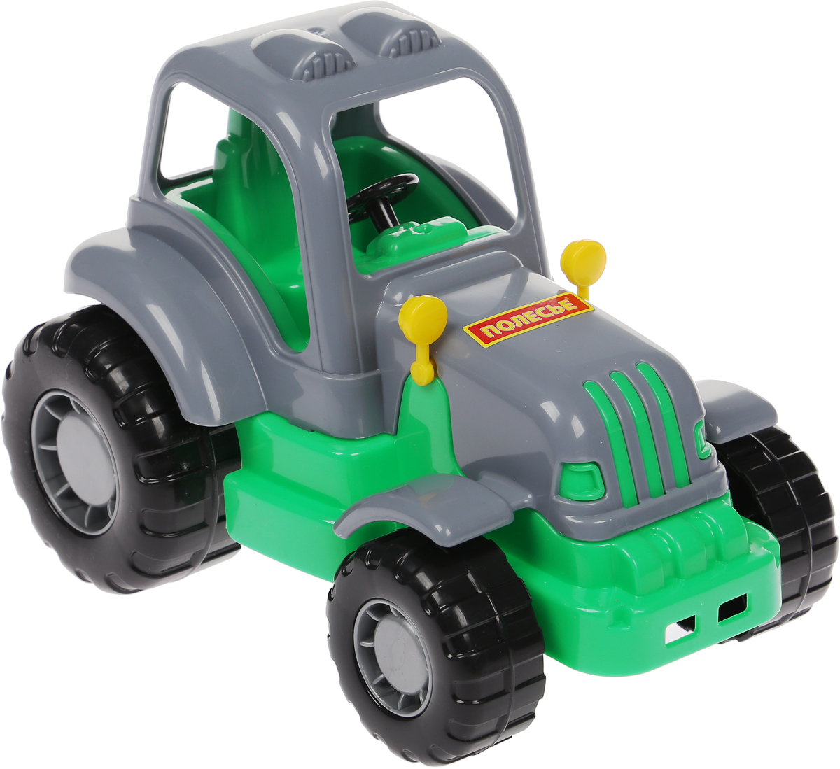 Полесье Трактор Крепыш цвет серый машина детская полесье полесье каталка трактор митя