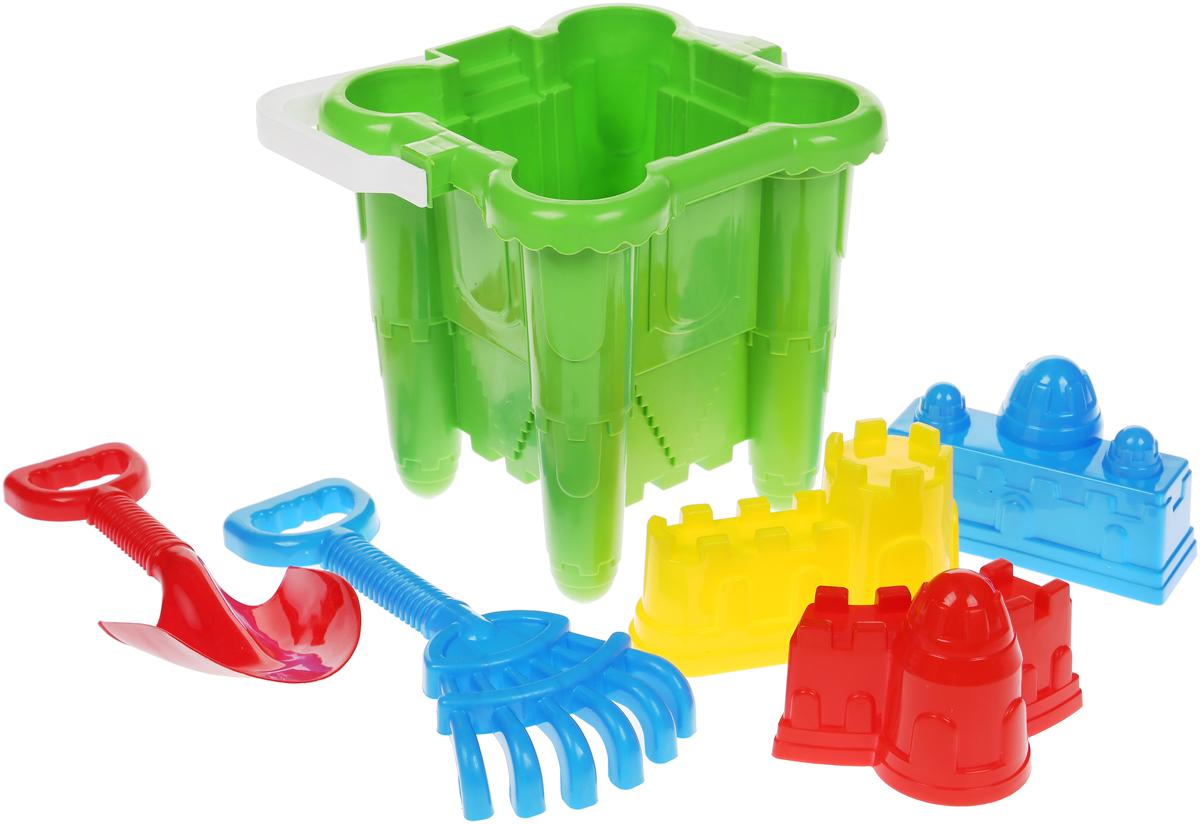 Alex Toys Песочный набор №3 цвет салатовый 6 предметов alex toys набор игрушек для ванной уточки 3 шт