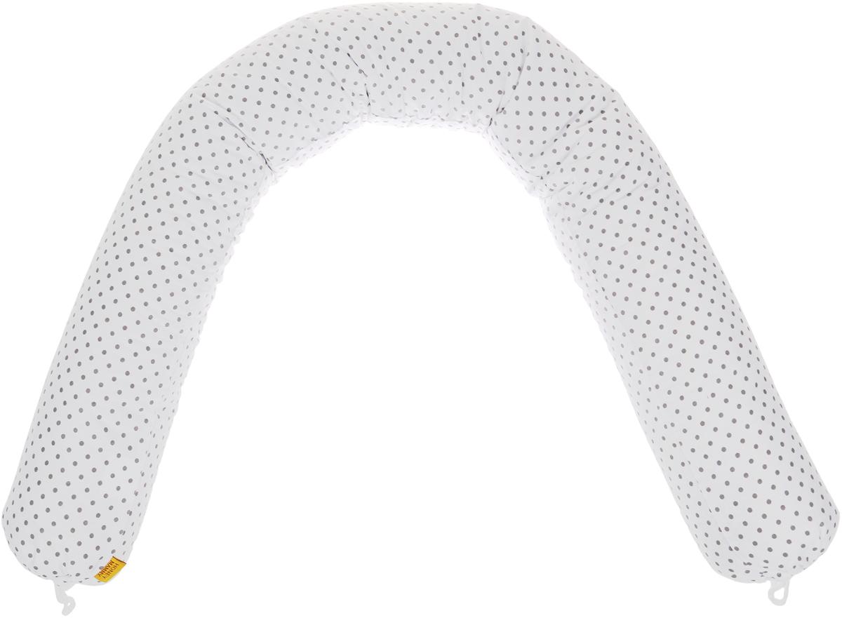HoneyMammy Защитный валик в детскую кровать Grano Saraceno цвет белый