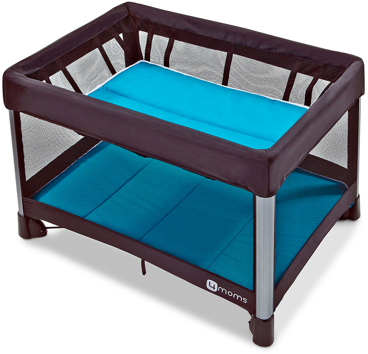 4moms Манеж-кроватка Breeze 2 цвет голубой 4moms электронное mamaroo 3 0 серый плюш