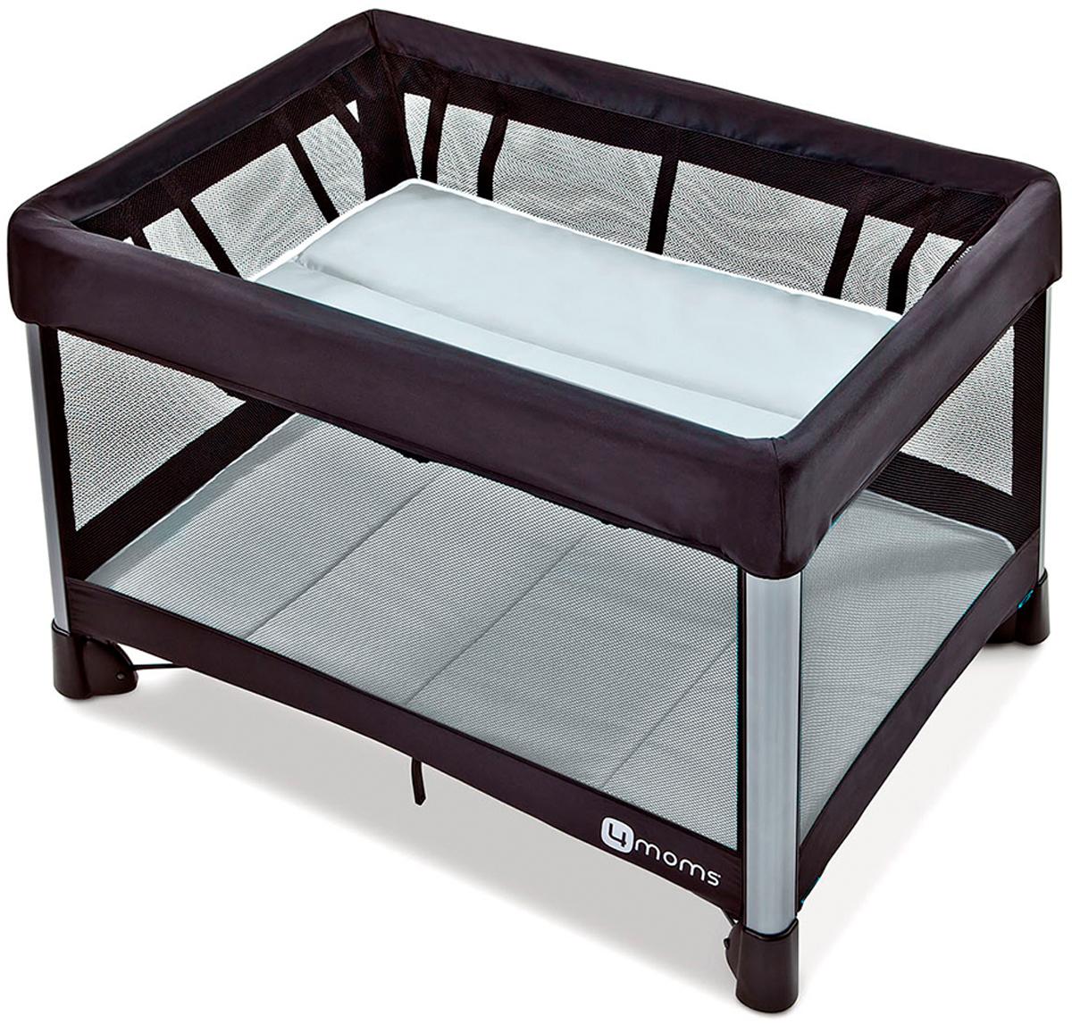 4moms Манеж-кроватка Breeze 2 цвет серый манеж 4moms 4moms манеж кровать breeze серый