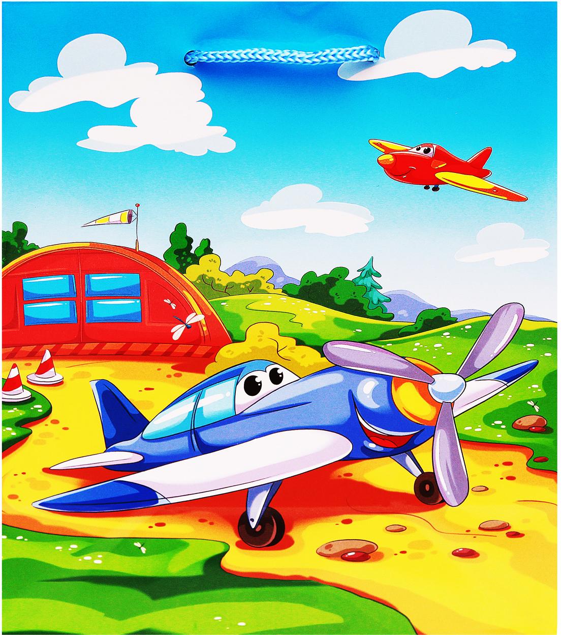 Рыжий Кот Пакет подарочный Самолетики 18 х 23 х 10 см статуэтка русские подарки африканка 11 х 10 х 53 см