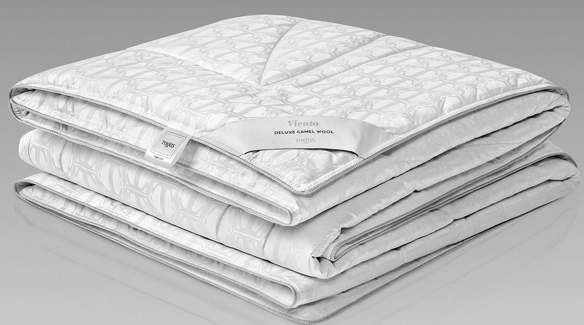 Одеяло Togas Виенто, наполнитель: верблюжий пух, цвет: белый, 140 x 200 см одеяла togas одеяло нобилис 200х210 см