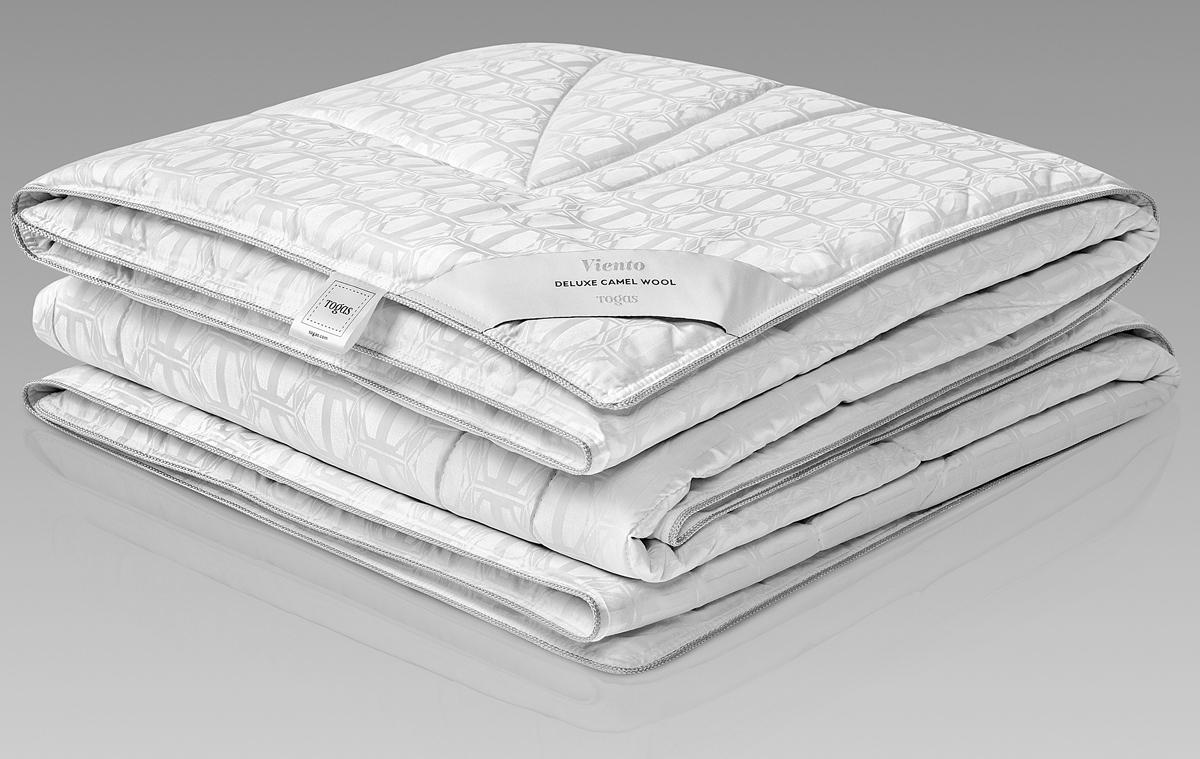 Одеяло Togas Виенто, наполнитель: верблюжий пух, цвет: белый, 200 x 210 см одеяла togas одеяло нобилис 200х210 см