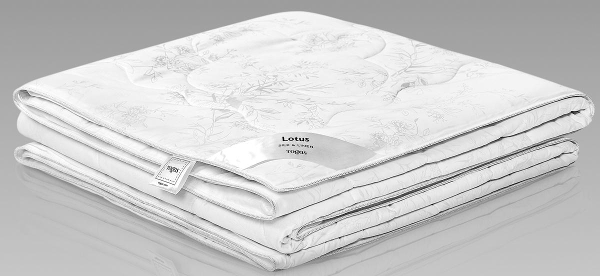Одеяло Togas Лотос, наполнитель: лен, шелк, цвет: белый, 220 x 240 см одеяла togas одеяло нобилис 200х210 см