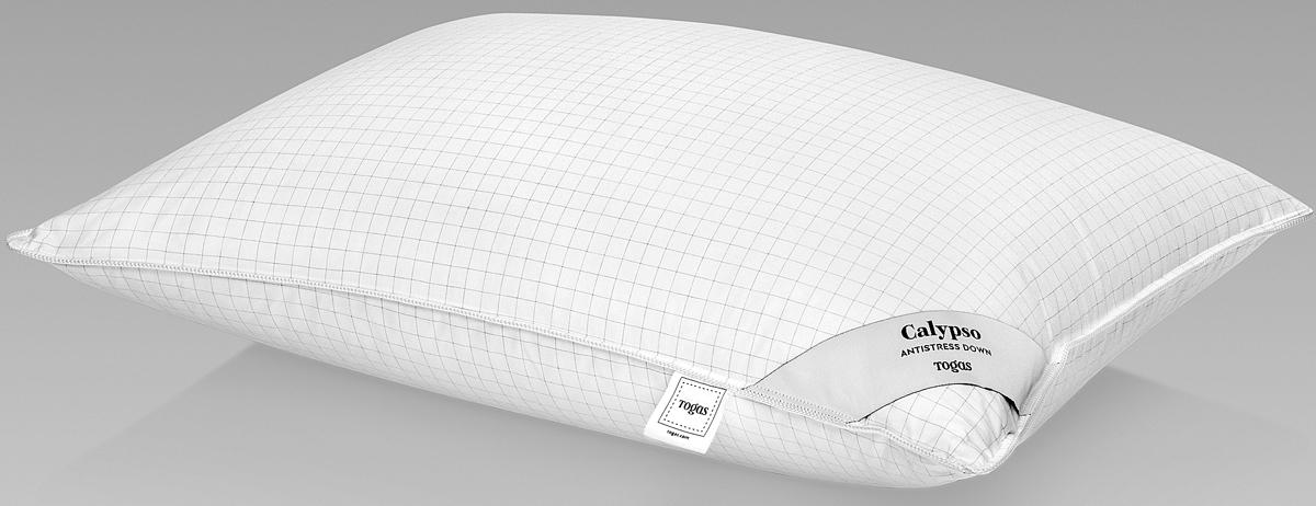 Подушка Togas Калипсо, наполнитель: гусиный пух, цвет: белый, 50 x 70 см подушки 1st home подушка 50 70 лён