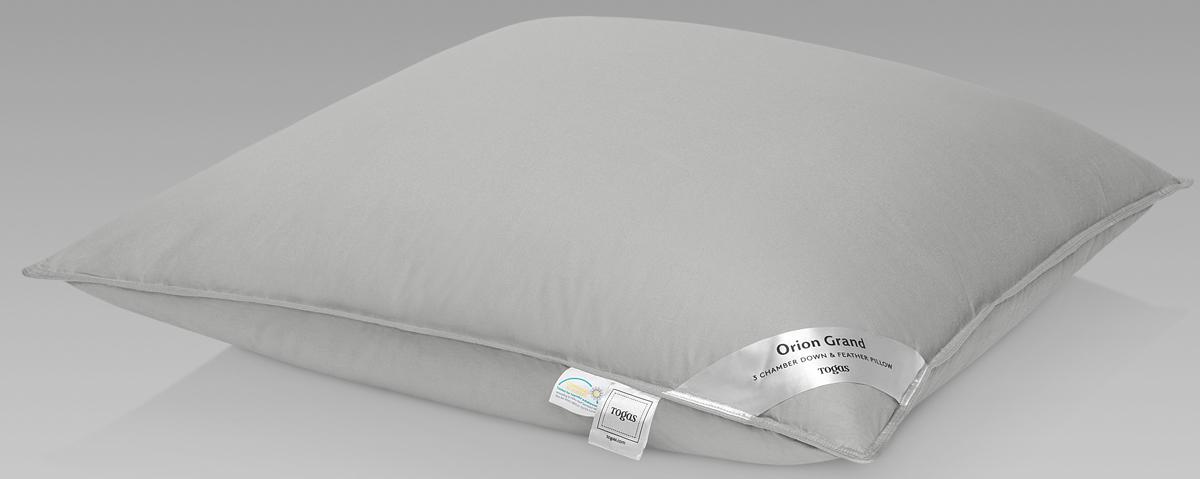 Подушка Togas Орион Гранд, наполнитель: гусиный пух, цвет: белый, 70 x 70 см подушка пуховая констант флейта 70