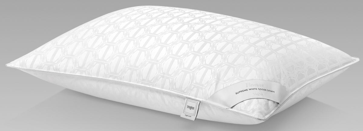 Подушка Togas Финесс, наполнитель: гусиный пух, цвет: белый, 50 x 70 см подушки 1st home подушка 50 70 лён