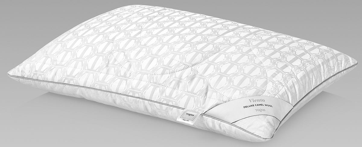 Подушка Togas Виенто, наполнитель: верблюжий пух, цвет: белый, 50 x 70 см подушки 1st home подушка 50 70 лён